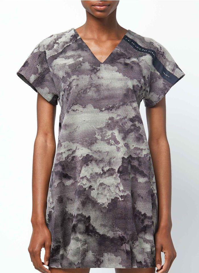 COP.COPINE Korte jurk met V-hals en print Veelkleurig