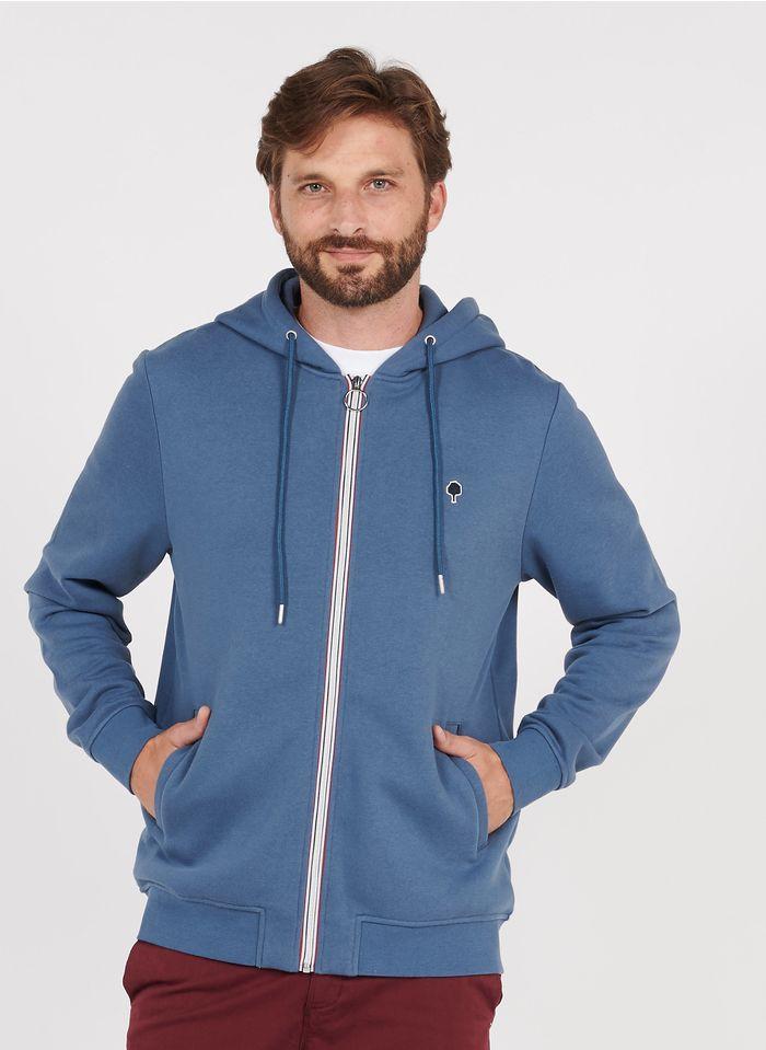 FAGUO Regular-fit sweater met capuchon - katoenblend Blauw