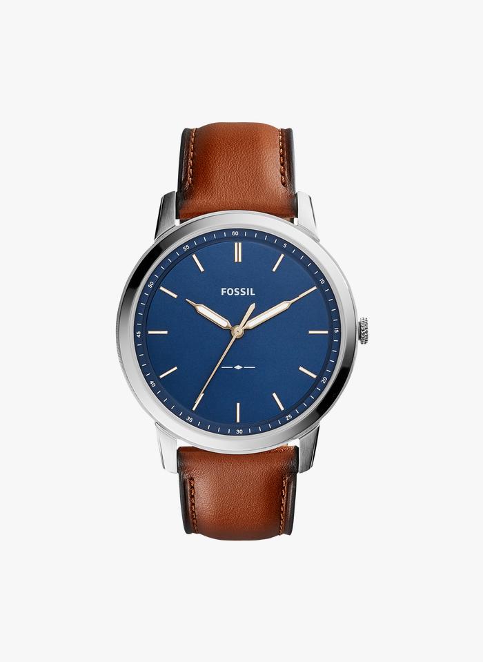 FOSSIL Horloge met leren bandje Bruin