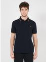 FRED PERRY NVY/DRK CARAMEL Blauw