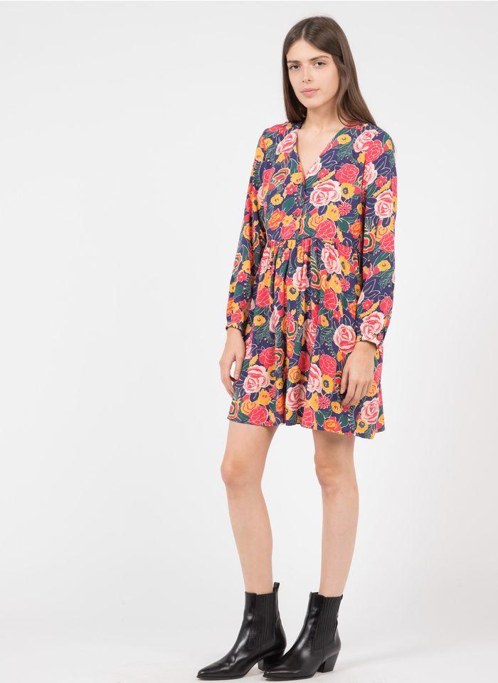 KARL MARC JOHN Korte jurk met V-hals en print Roze