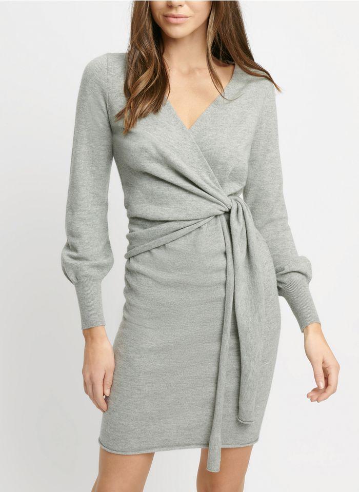 KOOKAI Korte trui-jurk - wolblend met kasjmier Grijs