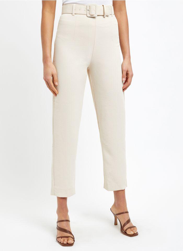 KOOKAI Rechte broek met hoge taille Beige
