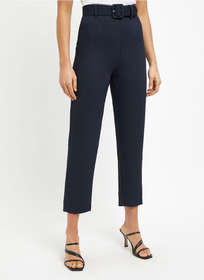 KOOKAI Rechte broek met hoge taille Blauw
