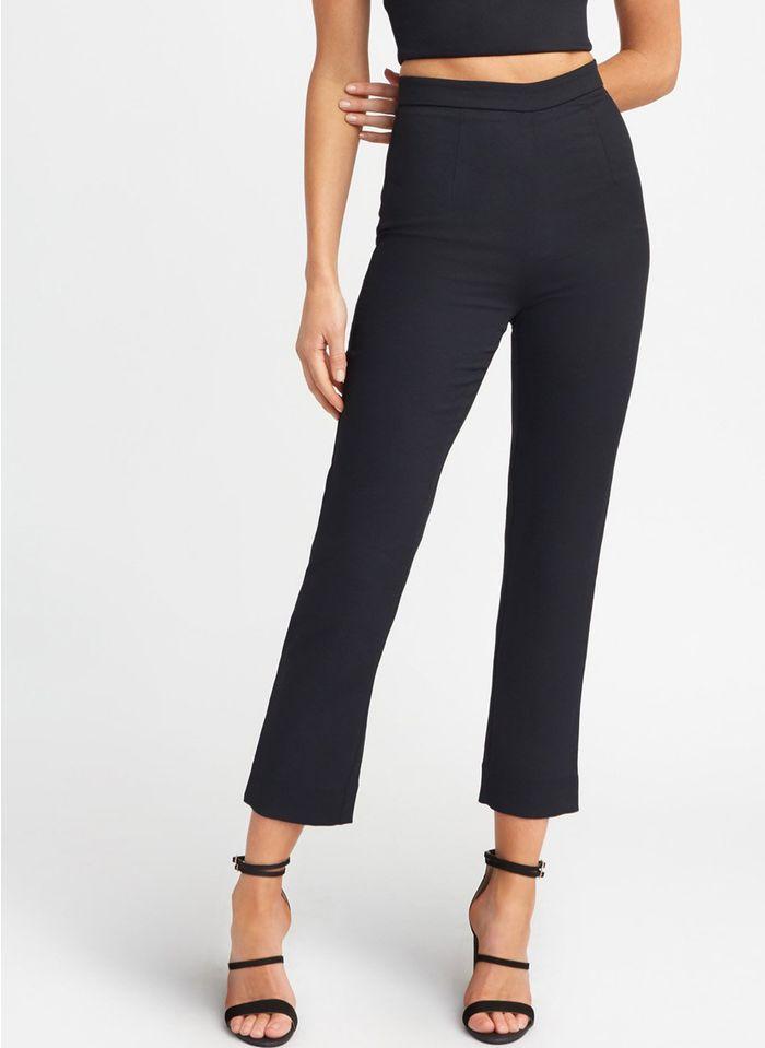 KOOKAI Rechte broek met hoge taille Zwart