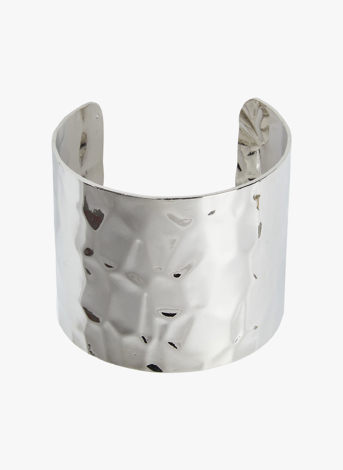 LA FEE MARABOUTEE Metalen manchetarmband Zilver
