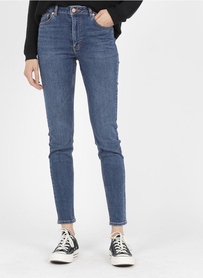 LAB DIP Slim-fit 5-pocketjeans met hoge taille Jeans verschoten