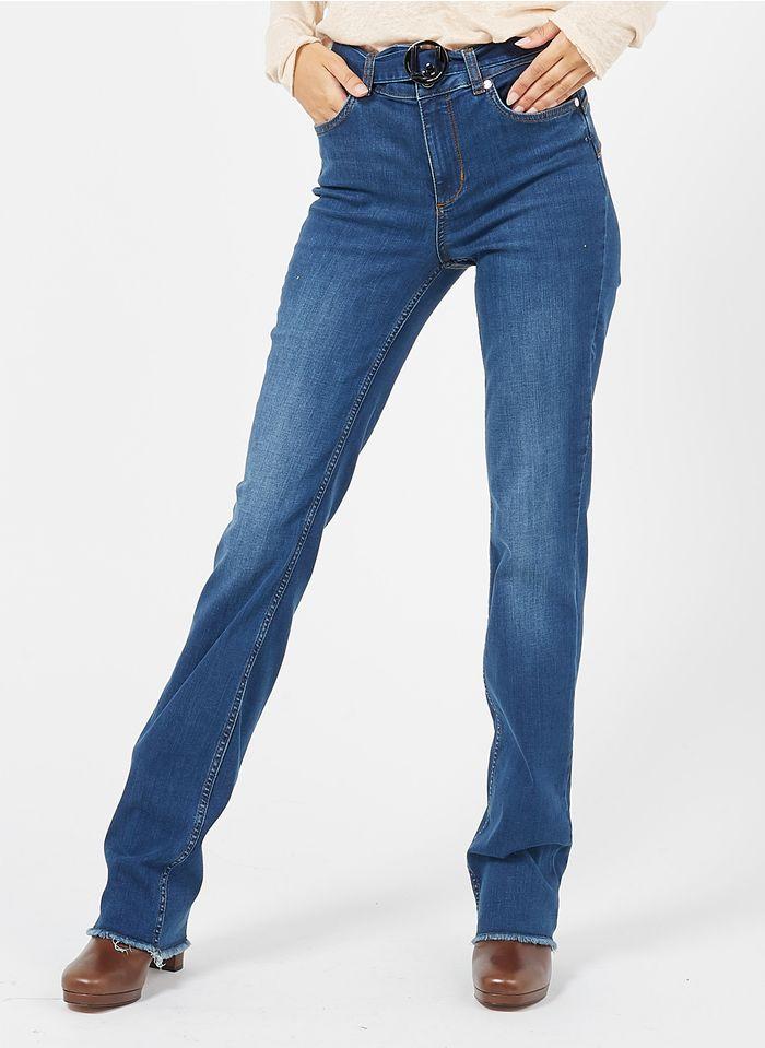 LIU JO Bootcut jeans van stretchkatoen met ceintuur Jeans verschoten