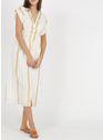LOUISE MISHA White & Gold Stripes Wit
