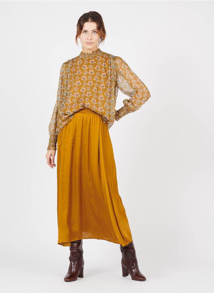 LOUISE MISHA Lange, soepelvallende rok Oranje