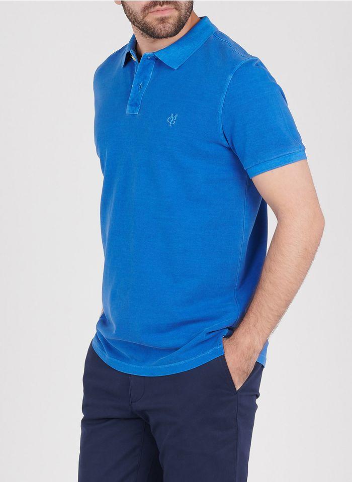 MARC O'POLO Regular-fit polo van piquékatoen met borduursel Blauw