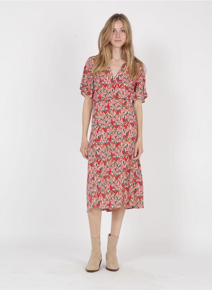 MARIE SIXTINE Halflange jurk met V-hals en bloemenprint Veelkleurig