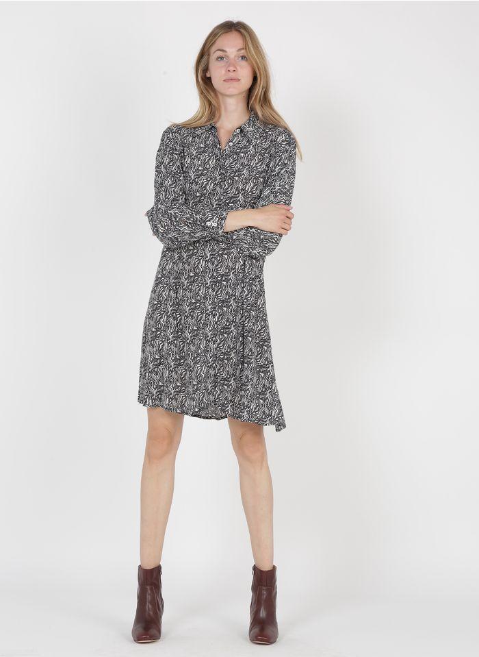 MARIE SIXTINE Korte jurk met klassieke kraag en print Veelkleurig