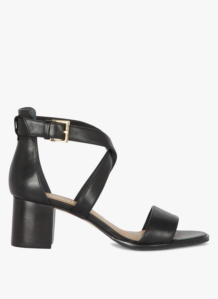 MINELLI Leren sandalen met hak Zwart