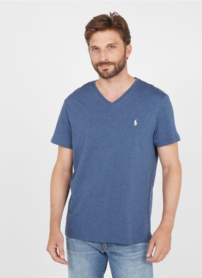 POLO RALPH LAUREN Katoenen, slim-fit T-shirt met V-hals Blauw