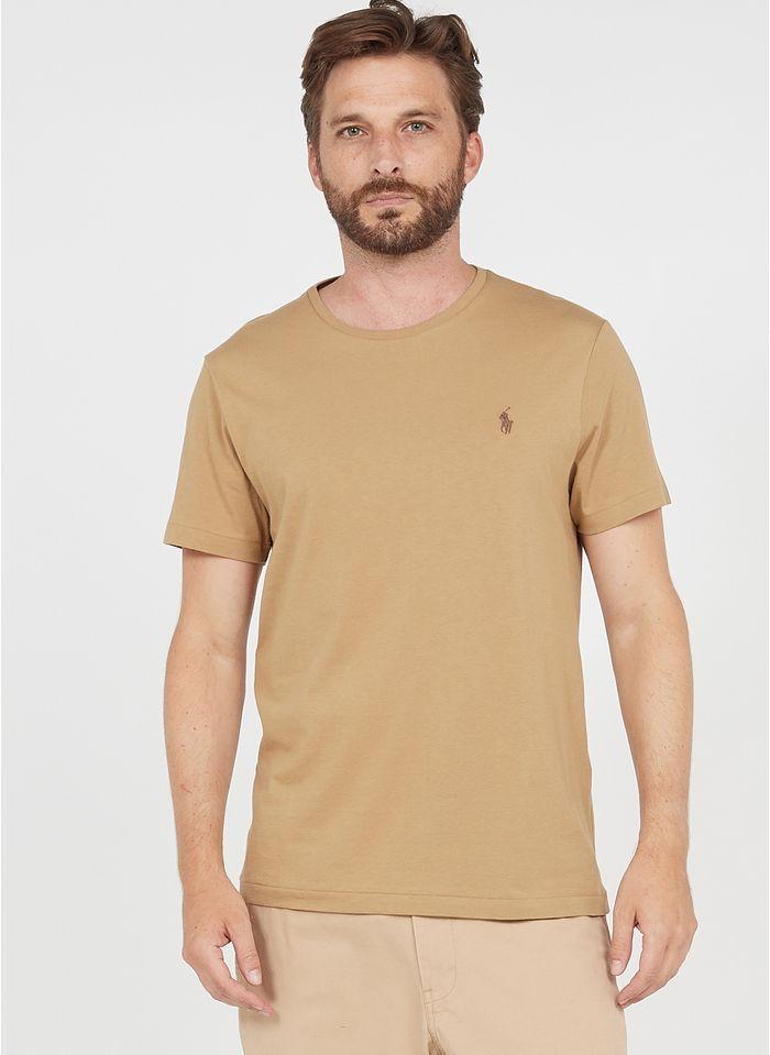 POLO RALPH LAUREN Katoenen T-shirt met ronde hals Beige