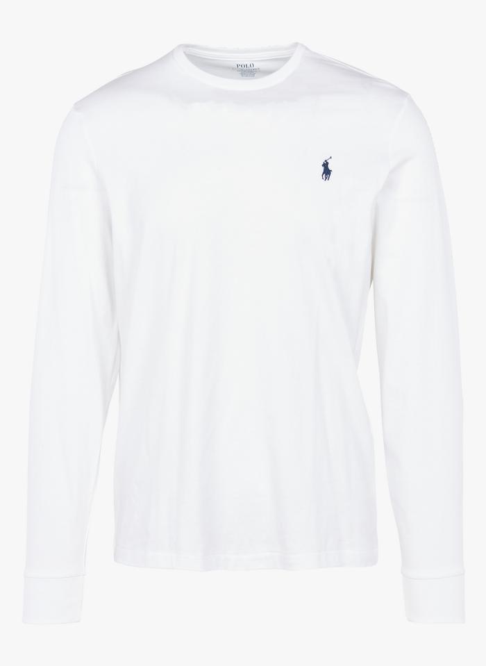 POLO RALPH LAUREN Katoenen T-shirt met ronde hals en lange mouwen Wit