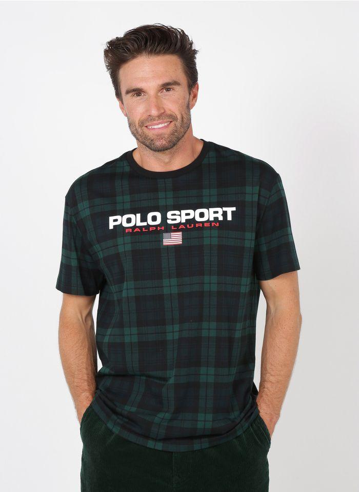 POLO RALPH LAUREN Regular-fit, katoenen T-shirt met ronde hals en zeefdruk Zwart