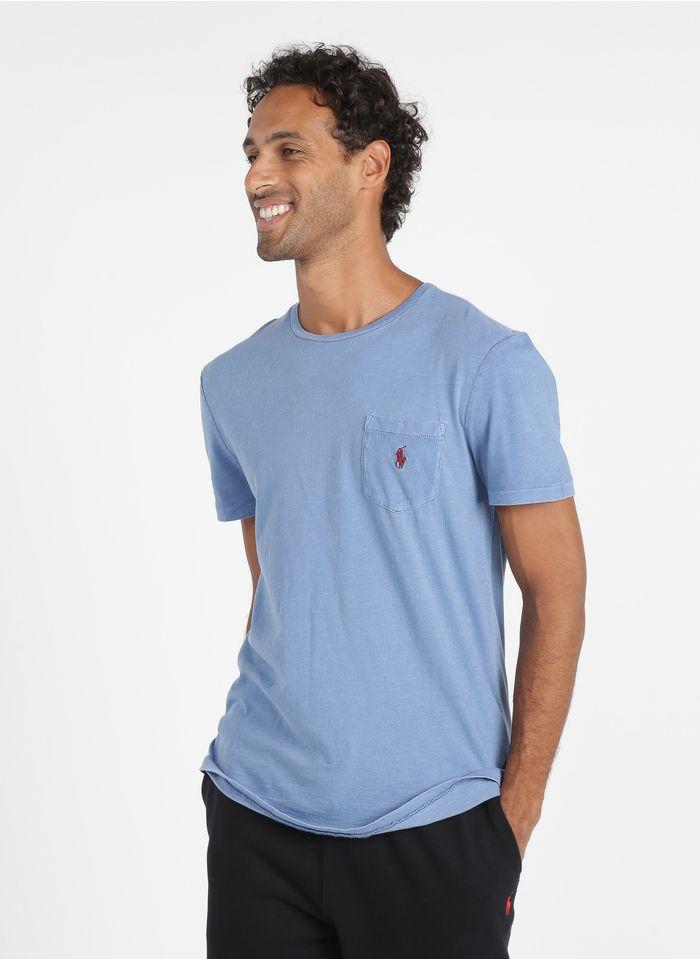 POLO RALPH LAUREN Slim-fit, katoenen T-shirt met ronde hals Blauw