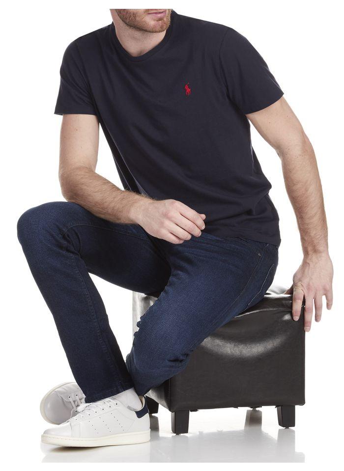 POLO RALPH LAUREN Slim-fit, katoenen T-shirt met ronde hals en polospeler Blauw