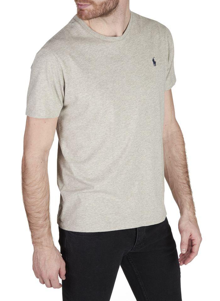 POLO RALPH LAUREN Slim-fit, katoenen T-shirt met ronde hals en polospeler Grijs
