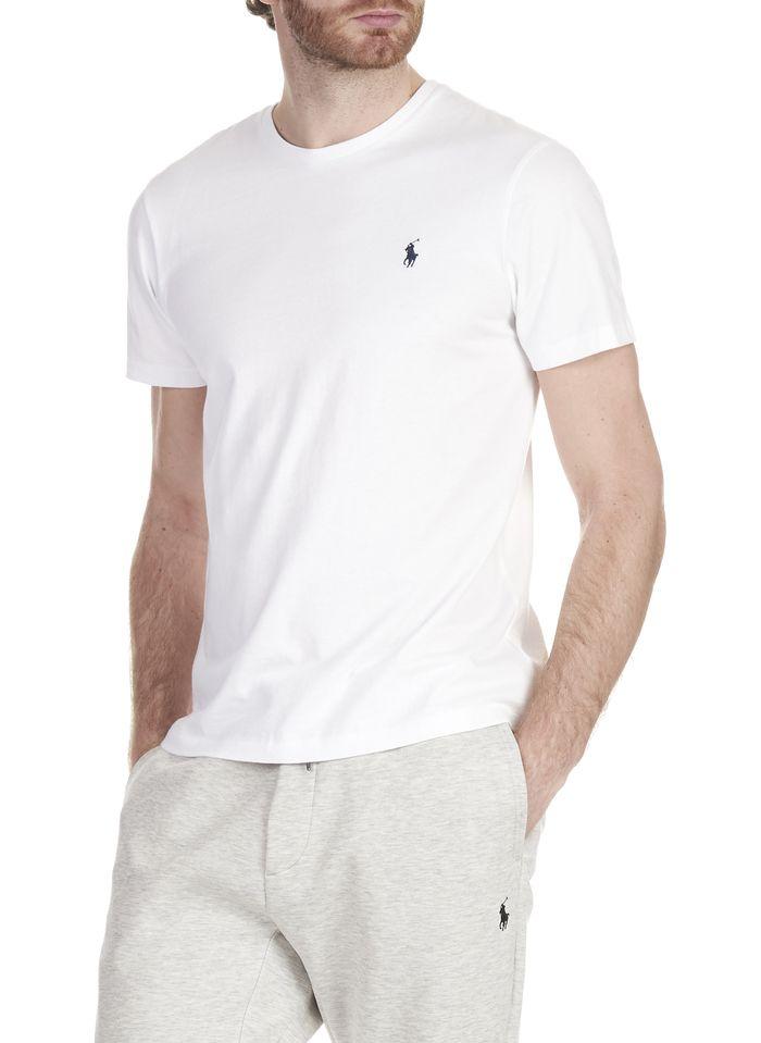POLO RALPH LAUREN Slim-fit, katoenen T-shirt met ronde hals en polospeler Wit