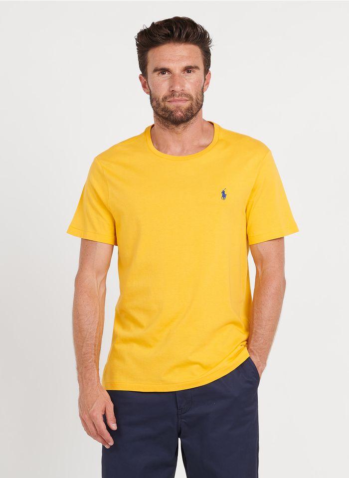 POLO RALPH LAUREN Slim-fit, katoenen T-shirt met ronde hals Geel