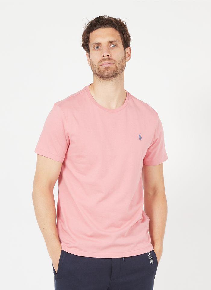 POLO RALPH LAUREN Slim-fit T-shirt van biologisch katoen met ronde hals en borduursel Roze