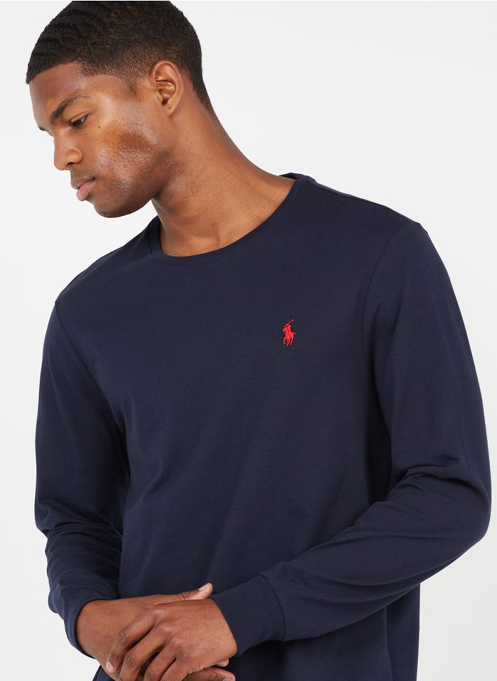POLO RALPH LAUREN T-shirt met ronde hals en lange mouwen Blauw