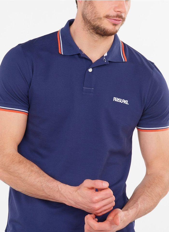 RASUREL Katoenen, regular-fit polo Blauw