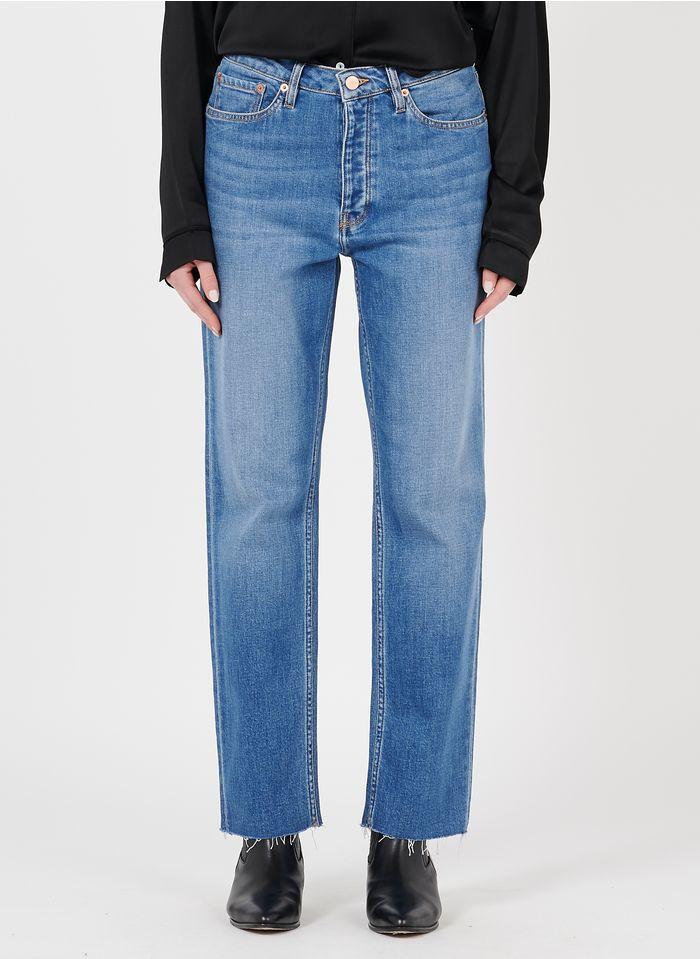 REIKO Cropped-fit jeans van biokatoen Jeans verschoten