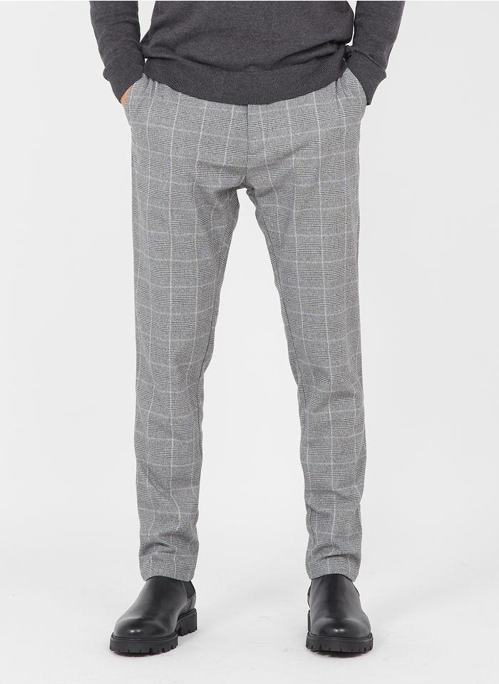 SAMSOE SAMSOE Pantalon slim-fit à carreaux Grijs