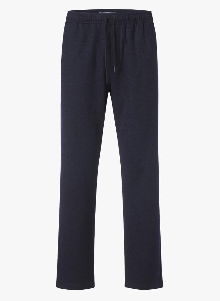 SAMSOE SAMSOE Regular-fit broek met elastische taille Blauw