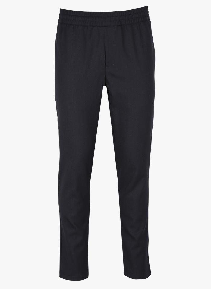 SAMSOE SAMSOE Slim-fit broek met elastische tailleband Blauw