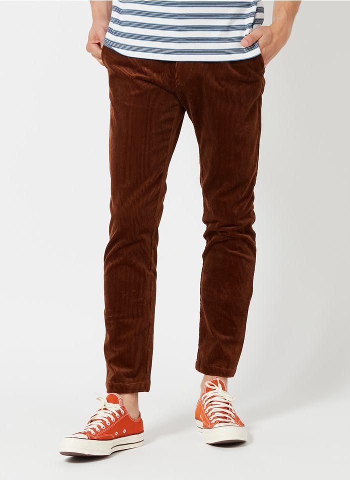 SAMSOE SAMSOE Slim-fit broek van corduroy Bruin