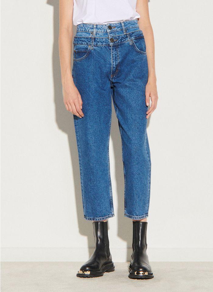 SANDRO Mom jeans met laagjeseffect Blauw