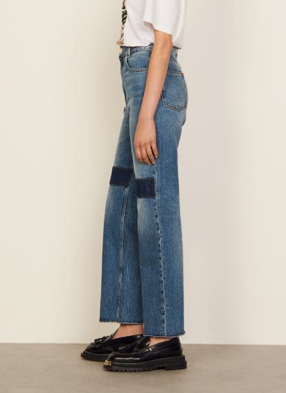 SANDRO Rechte jeans Blauw