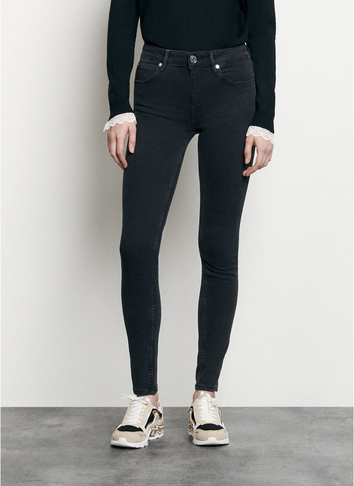 SANDRO Skinny jeans met lage taille Zwart