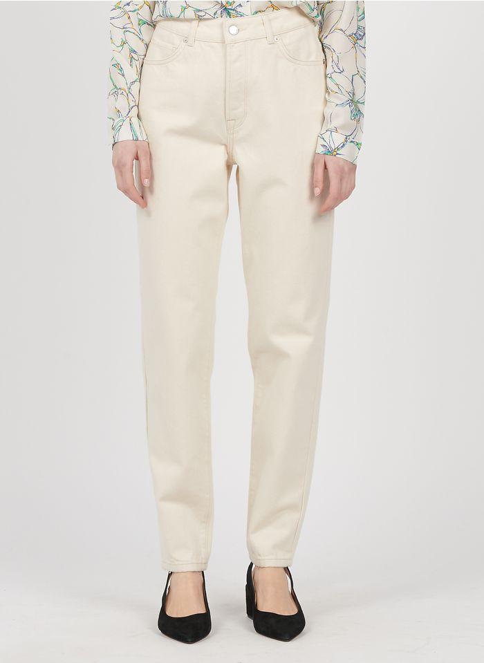 SELECTED Boyfriend jeans met hoge taille Wit