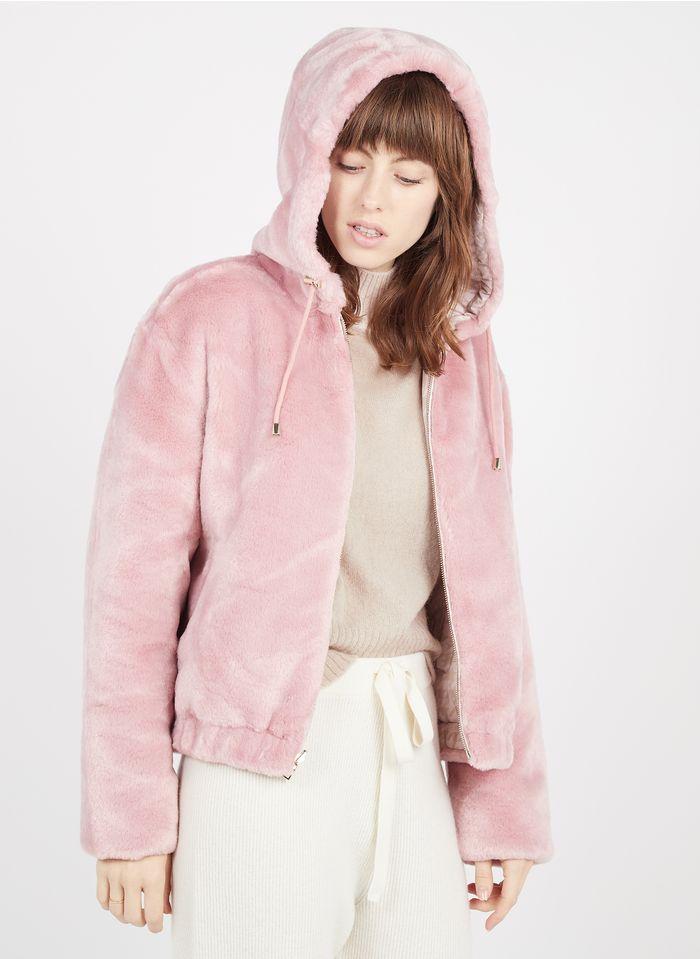 TARA JARMON Aan twee zijden te dragen jas van imitatiebont Roze